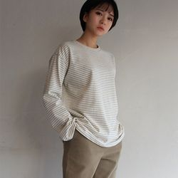 village thin stripe T-shirt(3color)