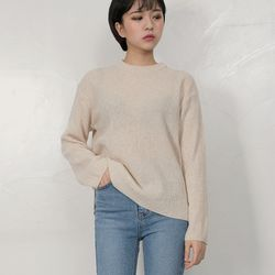 aron creamy round knit(4color)