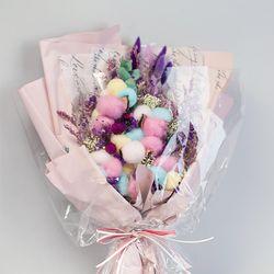 레인보우 목화 꽃다발