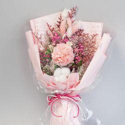 카네이션 목화 꽃다발(핑크)