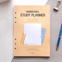 몬스터 6공 리필(A5)-스터디 플래너(3개월용)