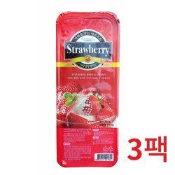 냉동-푸드웰 국내산 가당 딸기 1kg 3개묶음