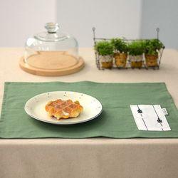 벨라이프 린넨 포켓 식탁매트 그린