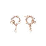 핑크 문 & 버터플라이 실버 귀걸이 CLER18371PPP