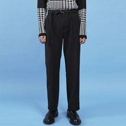 belted wide slacks (2 color) - UNISEX