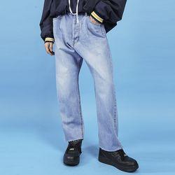 vintage denim wide pants (2 color) - UNISEX