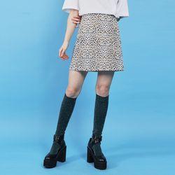 leopard mini skirt (2 color)