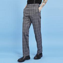 check straight slacks (2 color) - UNISEX