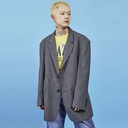 overfit two button jacket (2 color) - UNISEX