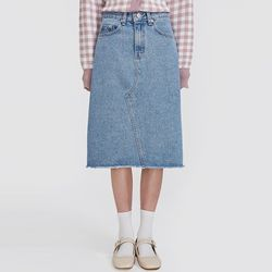 stay cutting denim skirt (s m)