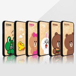 라인프렌즈 iPhoneX 18 2ST Slide 미러 라이팅 케이스