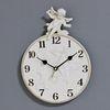 (kkjj232)화이트 엔젤벽시계 (아라비아)