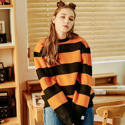 Crump stripe overfit knit (CT0121-1)