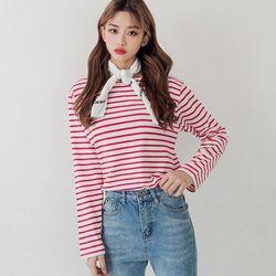 [로코식스] cherry stripe T티셔츠