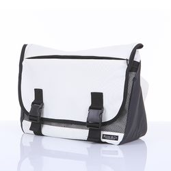 SCHOOL MESSENGERBAG WHITE