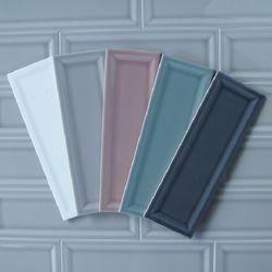 음각 직사각 타일 100-300 1헤베-33pcs (6color)