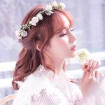 셀프웨딩 오하라 꽃 화관 웨딩헤어밴드