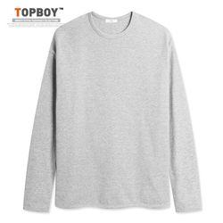 [탑보이] 남녀공용 오버핏 무지 랍바 티셔츠 (NT005)