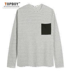 [탑보이] 남녀공용 잔단가라 오버핏 티셔츠 (ON083)