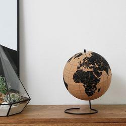 15.5cm 코르크 지구본 우드압정핀
