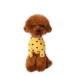 Flocking Dot T-Shirt 후로킹 도트 티셔츠 Yellow