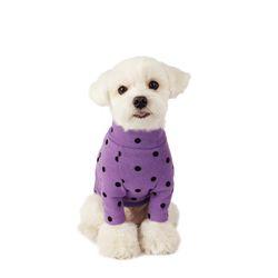Flocking Dot T-Shirt 후로킹 도트 티셔츠 Violet