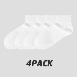여성용 4팩 기본양말 세트 (White)