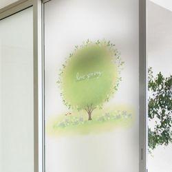 cj857-봄나무유리문시트지
