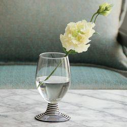 모던 스트라이프 와인 잔