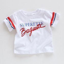 바게트 유아 반팔 티셔츠 T140
