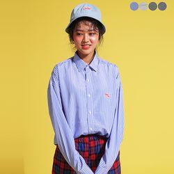 Play Stripe Overfit Shirt(4color)(unisex)
