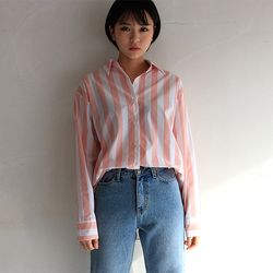 roller stripe shirt (3color)