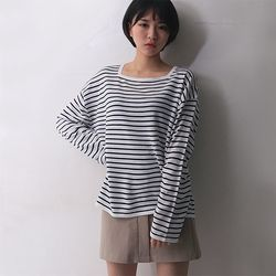 bridge square neck knit (3color)
