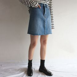 nomal vintage denim skirt