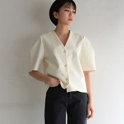 coating paper blouse (2color)
