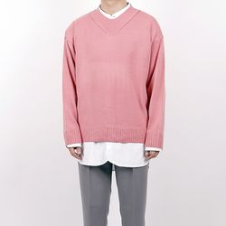 Spring sensitivity V neck knit