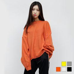 2063 지퍼 니트 티셔츠 (5colors)