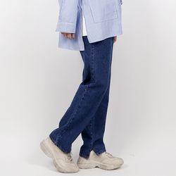 Hyoji semi-wide tim jeans (dark blue)