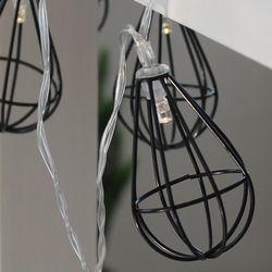 철재 블랙 벌브 LED 전구 가랜드 조명 NS293