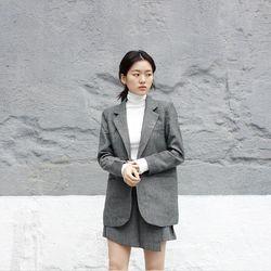 헤링본 사선 스커트 (2color)