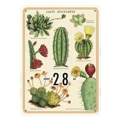 Cavallini 빈티지 벽걸이 만년달력 - Succulents