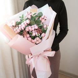 자이언트 핑크 목화꽃다발