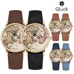 [Gluck]글륵 세계지도 손목시계 지도시계 MW79 시리즈