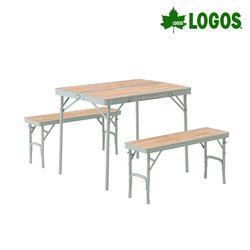 캠핑 벤치 우드 테이블 세트
