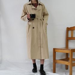 Daily double trench coat