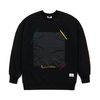 SQUARE HEAVY SWEAT OVERSIZED CREWNECK BLACK