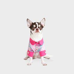플라워패턴 st 셔츠 핑크