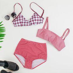 톤다운 핑크 투웨이 비키니 2pcs