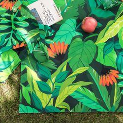 양면방수 피크닉매트 어반 정글-딥그린S(매트단품)
