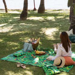 양면방수 피크닉매트 어반 정글-딥그린M(매트단품)